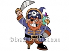 Cartoon Pirate Clipart with Parrot
