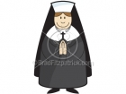 Cartoon Nun Clipart Character