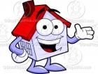 House Cartoon Character Mascot