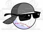 Baseball Logo Character With a Gray Basball Cap