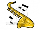 Cartoon Saxophone Clipart