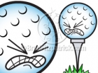Cartoon Golf Ball Clipart