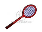 Royalty Free Tennis Racket Cartoon Clipart