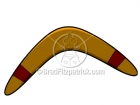 Cartoon Clipart of a Boomerang