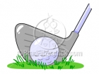 Golf Club & Ball Clipart Graphics