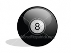 Cartoon Picture of an 8 Ball Clipart Graphics