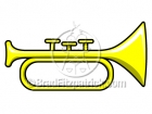Cartoon Horn Clipart Graphics (bugle)