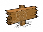 Royalty Free Blank Wood Sign Cartoon Clipart