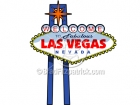 Cartoon Welcome to Las Vegas Sign Illustration