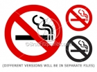 No Smoking Sign Clip Art Icon Symbols