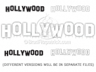 Cartoon Hollywood Sign Clipart Graphics