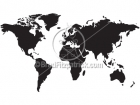 Silhouette World Map Clip Art Graphics