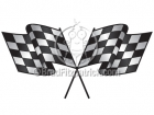 Racing Checkered Flag Clipart Graphics