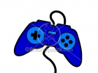 Royalty Free Video Game Controller Cartoon Clipart