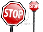 Cartoon Stop Sign Clipart