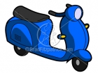 Cartoon Vespa Moped Clipart