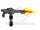 Cartoon Flame Thrower Clipart