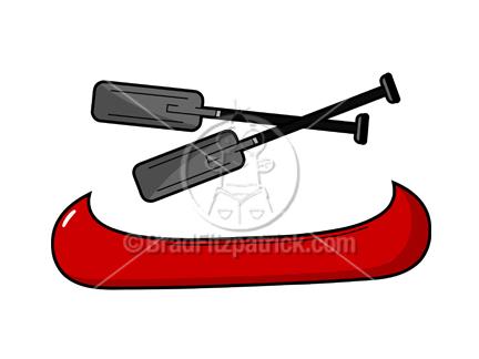 Cartoon Canoe Clipart Picture | Royalty Free Canoe Clip ...