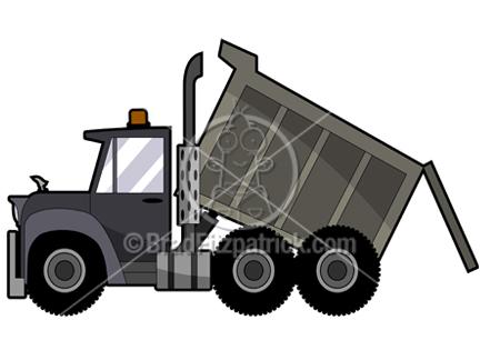 Truck Clip Art. Cartoon Dump Truck Clipart