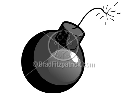 Cartoon Bomb Clipart Picture | Royalty Free Bomb Picture Licensing.