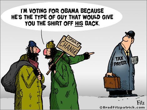 Barack Obama Cartoon   Ron Paul Political Cartoon