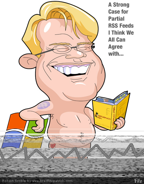 Picture of Robert Scoble\'s Caricature - A Cartoon Robert Scoble, the Scobleizer