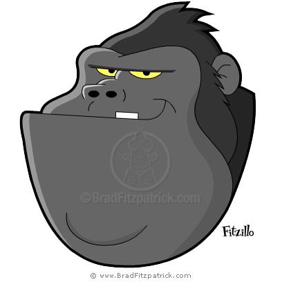 Cartoon Gorilla Head