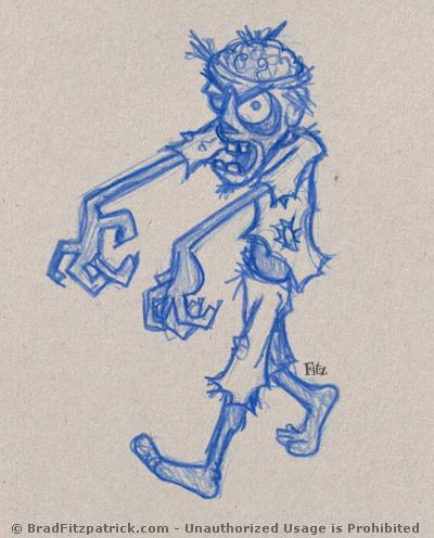 A Creepy Zombie Drawing