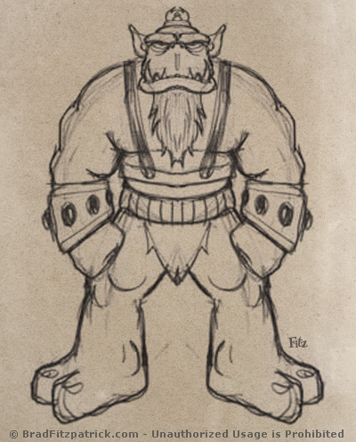 Giant Troll Monster Drawings & Sketches - Fantasy Monster Drawings & Art Pictures