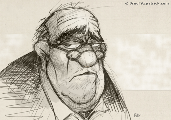 Sketchy drawing of an old man - Old Man Drawing