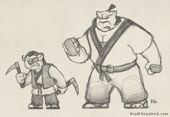  usagi yojimbo samurai assassins concept drawings