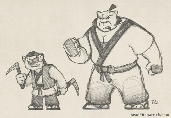 usagi yojimbo samurai assassins concept drawings