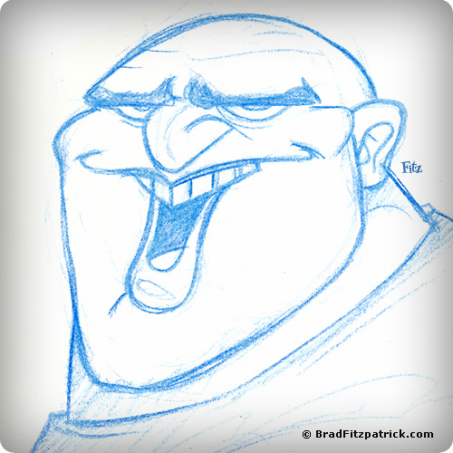 Character Design of a Crazy Bald Dude