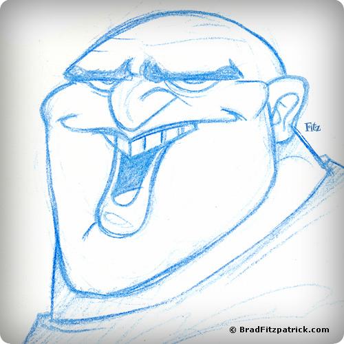 Character Design of a Crazy Bald Dude