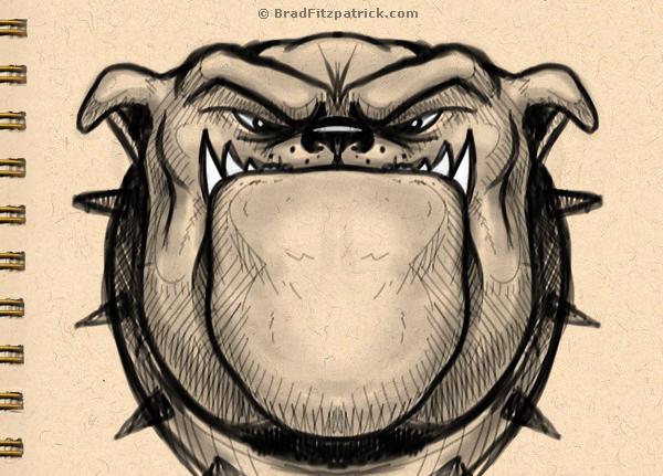 Dog Drawing - Drawing of a Bulldog
