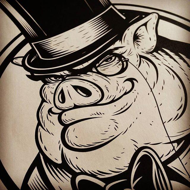 A Proper Pig #logo #logos #logodesign #pig