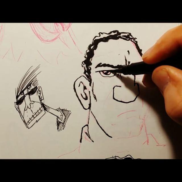A quick sketchbook doodle. Trying to spark myself back into posting stuff. #sketchbook #sketch #drawing #doodle #art #characterdesign #brush #brushpen