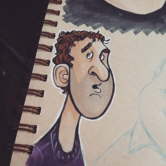 Another unsuspecting dude from the #sketchbook .. #sketch #dailysketch #drawing #doodle #characterdesign
