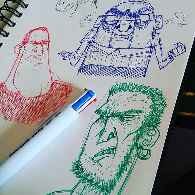 Cheap pen fun. #sketchbook #sketch #doodle #drawing #pen #quatro