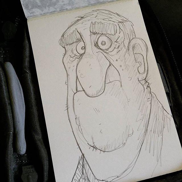 He just can't believe it. #sketchbook #sketch #doodle #drawing #moleskine