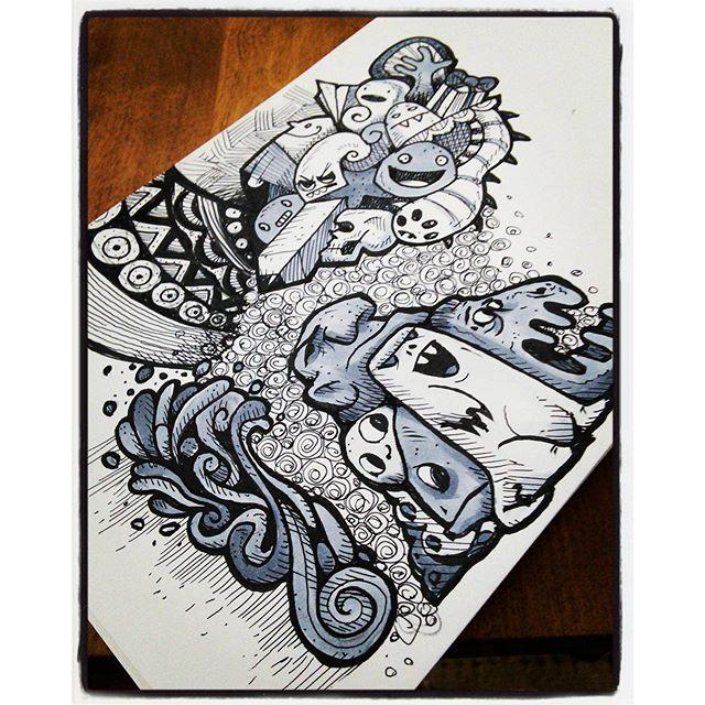 Just a Doodle... #drawing #sketchbook #doodle #sketch #moleskine #moleskine_arts #art #instaart