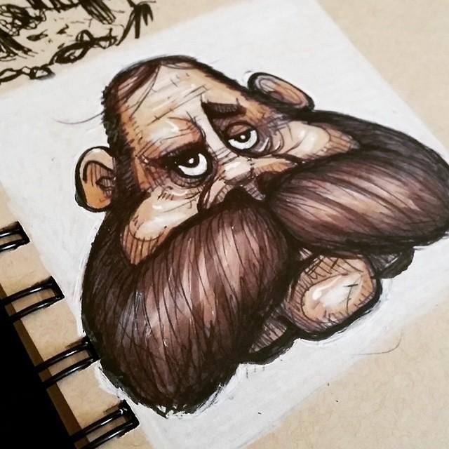 Mr. Mustache #drawing #sketchbook #sketch #doodle #mustache #character #characterdesign