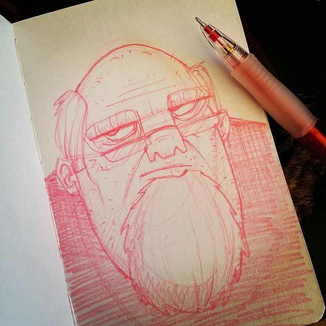 Not Impressed #drawing #sketchbook #doodle #sketch #moleskine #characterdesign