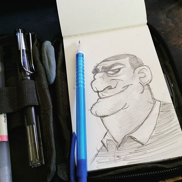 This Guy #drawing #sketchbook #doodle #sketch #moleskine #moleskine_arts #sketchkit