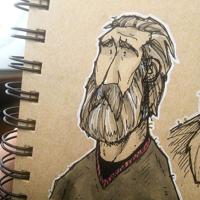 Weekend Bearded Doodle Dude. #drawing #sketch #sketchbook #characterdesign #doodle #dailydrawing #drawingaday #drawings #sketches