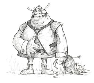Shrek Character Sketch