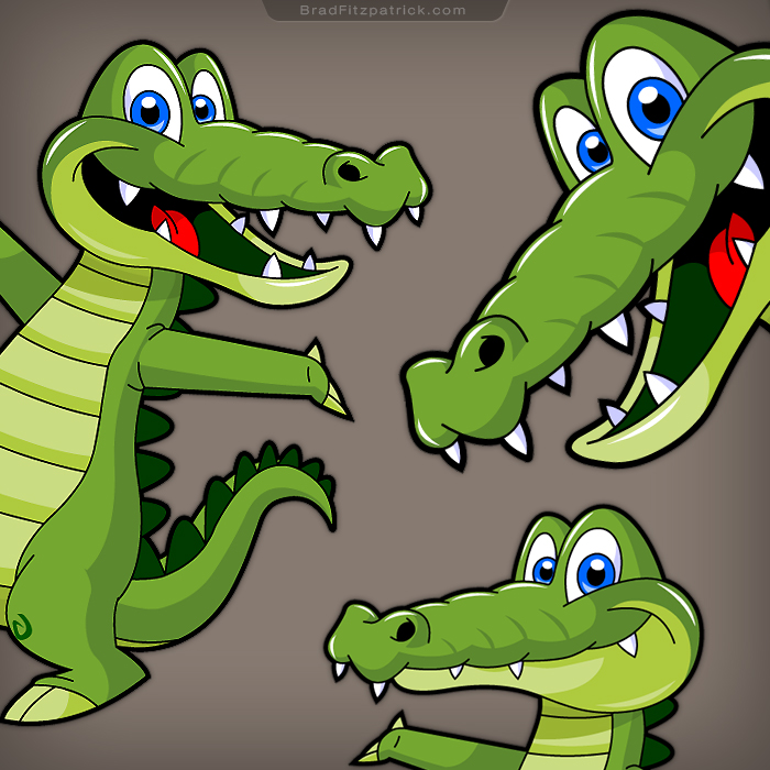 Alligator-Crocodile-Character-Designs-Video-Game
