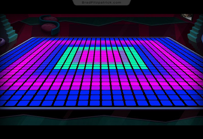 Dance Floor Disco Game Interiror Background Design 001