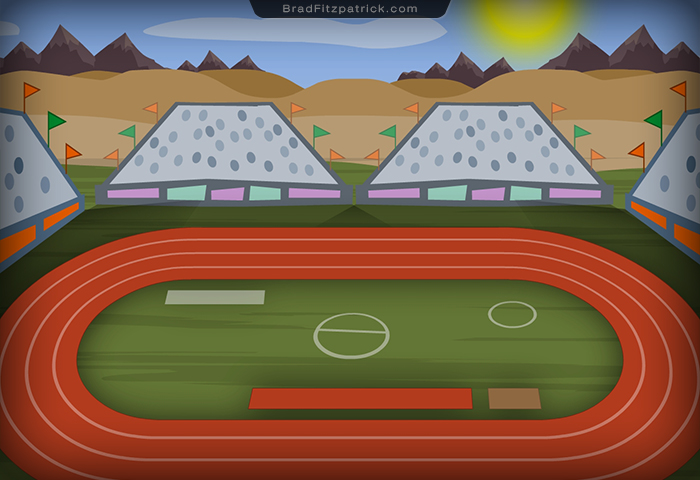 how to draw a track and field cartoon