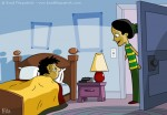Children's Book Illustration of a Mom Waking up Her Son to Get ready for school